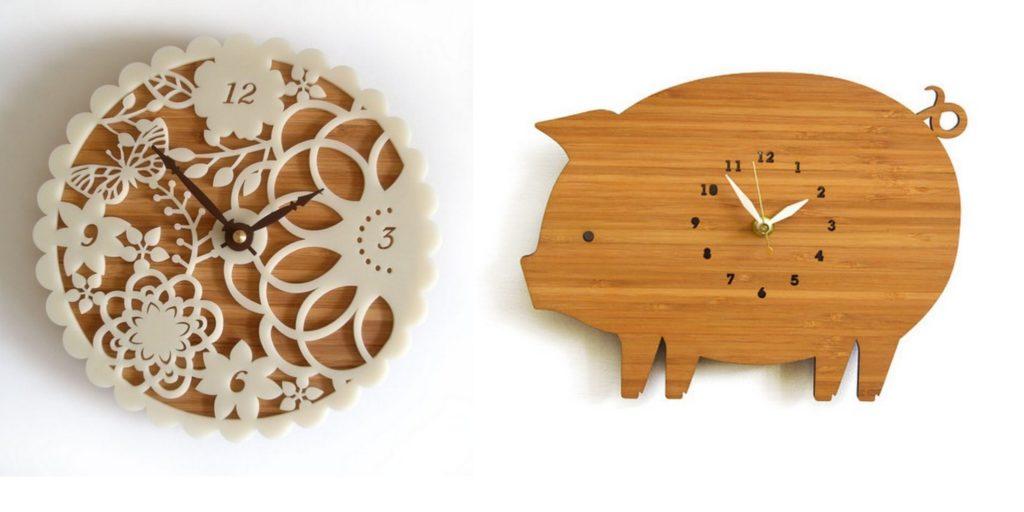 whimsical wall clocks