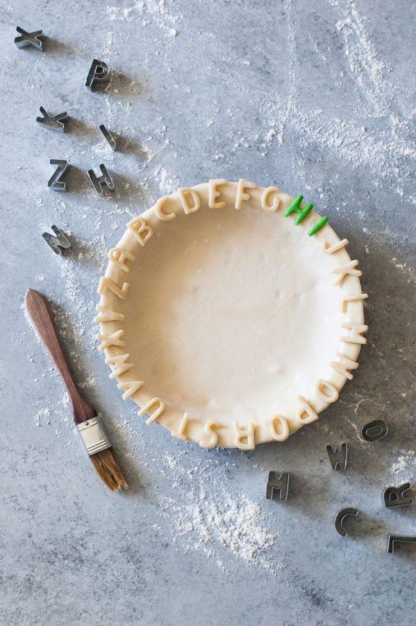alphabet pie crust