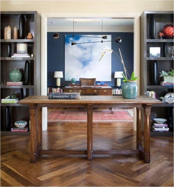 herringbone wood floors