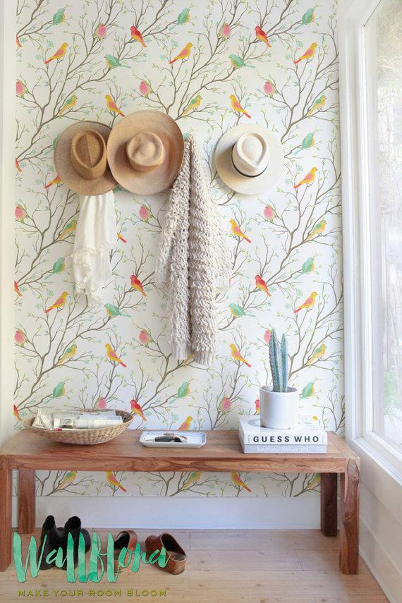 colourful birds wallpaper