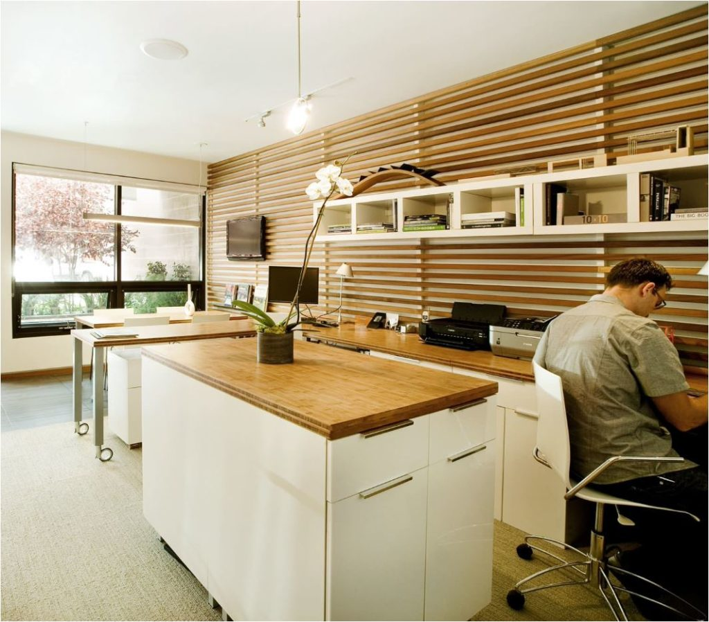 dimensional wood stripe wall