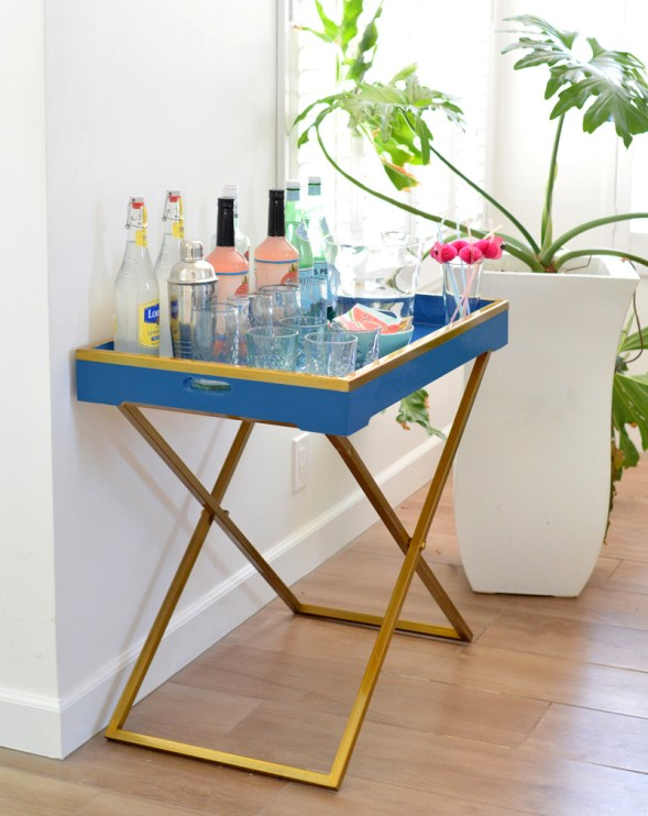 drink station royal blue tray