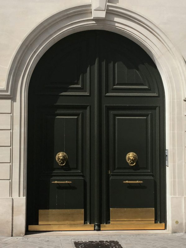 black arched doors paris