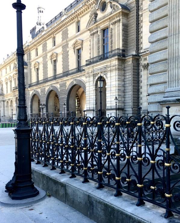 black iron railing
