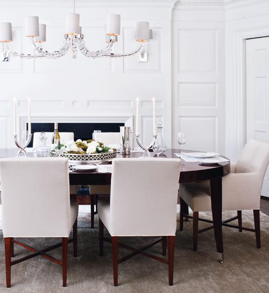 Fancy upholstered parsons dining chairs