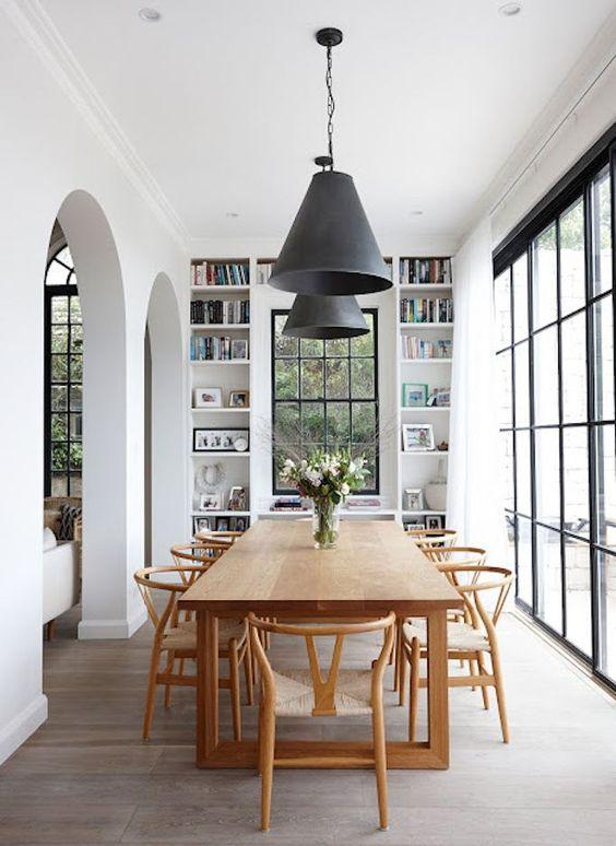 wishbone chairs dining room