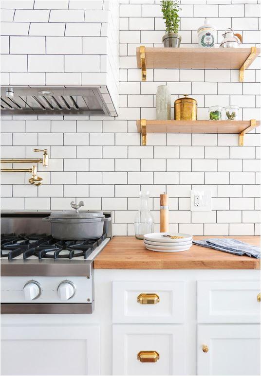 brass shelf brackets kitchen shelving