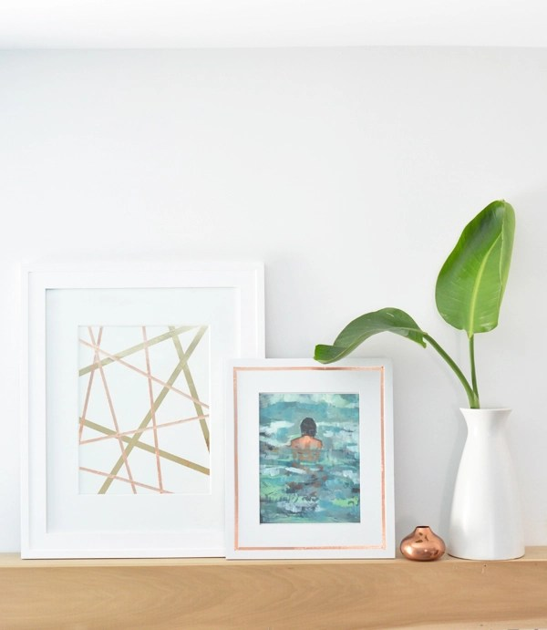 copper tape framed art