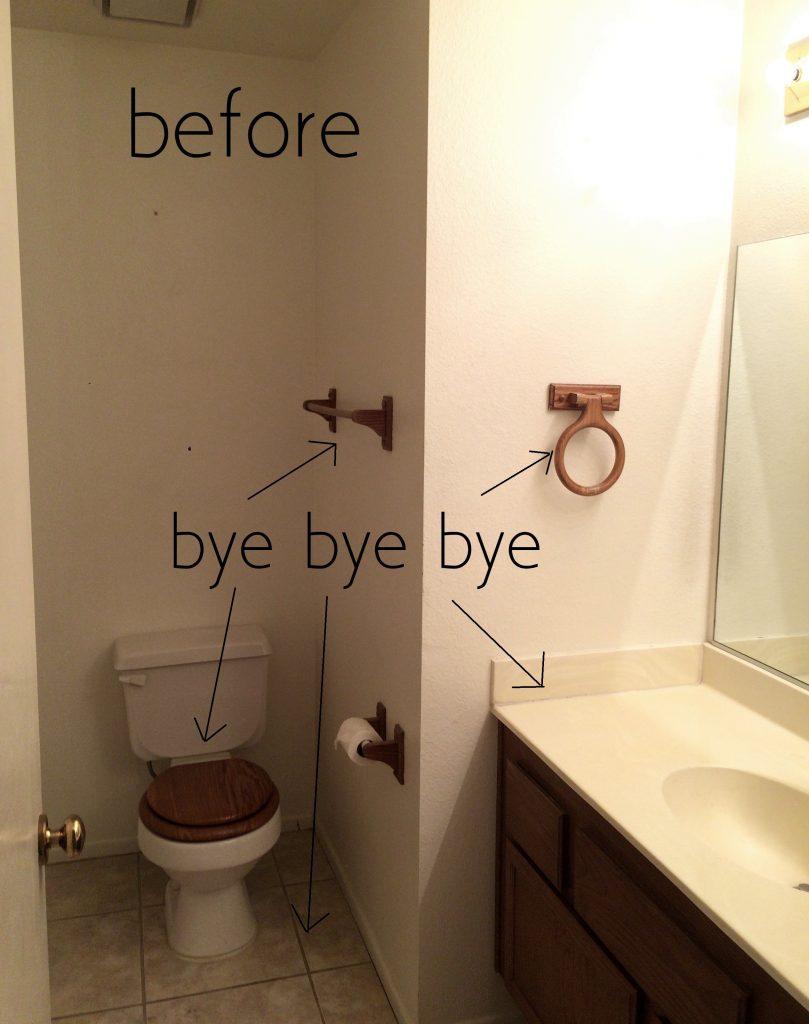 hall bath before