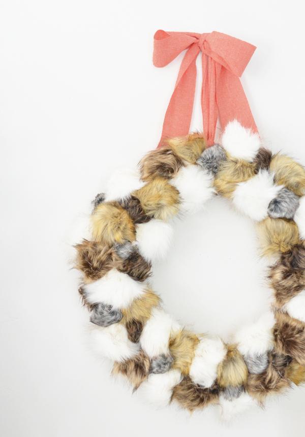 fur-pom-pom-wreath-and-ribbon