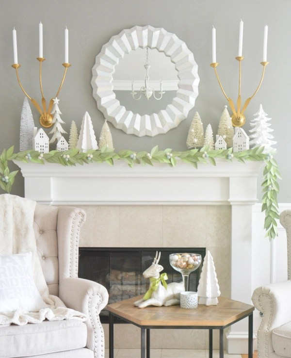 leaf-garland-mantel