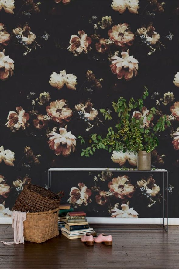 Trendspotting Still Life Floral Wallpaper Centsational