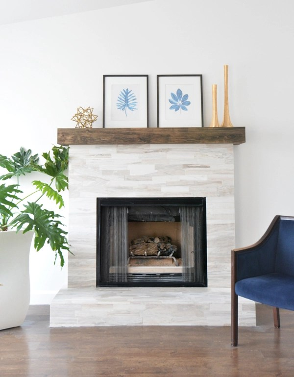 Marble Fireplace Makeover | Centsational Style
