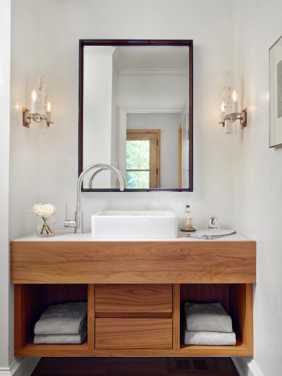 floating-wood-vanity-white-countertop Navy Blue Interior Design Florida Homes on navy blue living room design, navy blue bedroom decorations, navy blue decorating ideas, navy blue bathroom design,