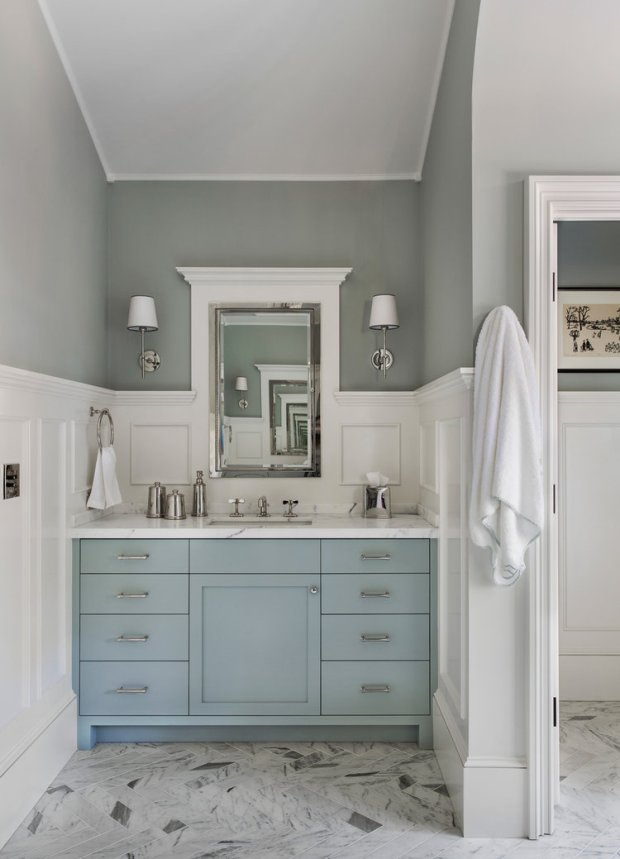Blue Painted Bath Vanities