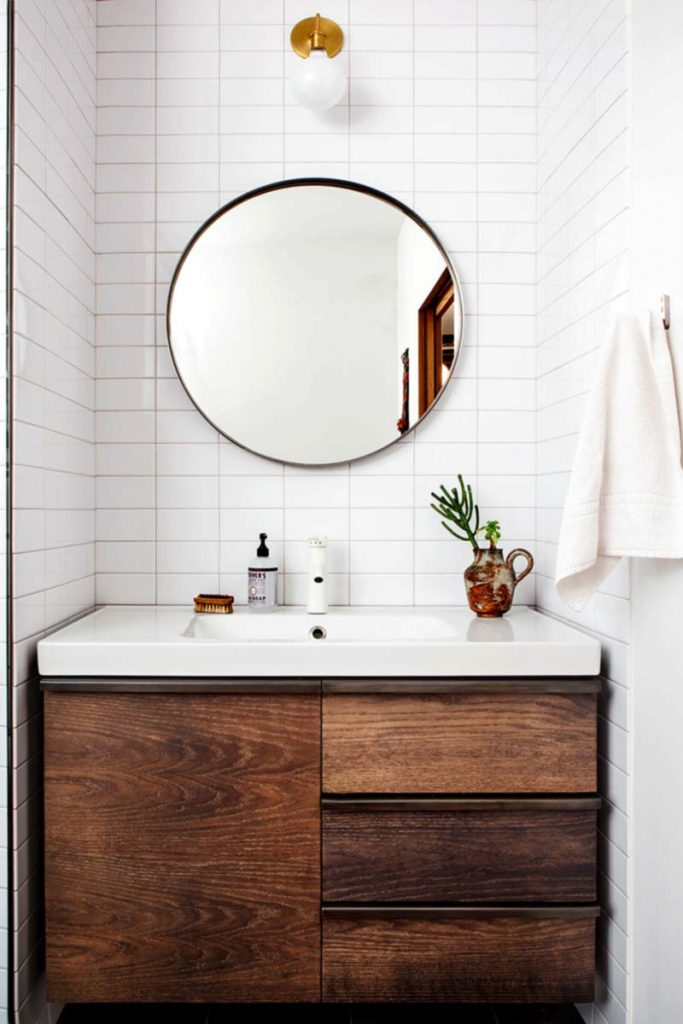 I Love The Contrast Created In A Bathroom With A Wood Vanity, Especially  When The Countertops And Surrounding Tile Are White Or Marble.