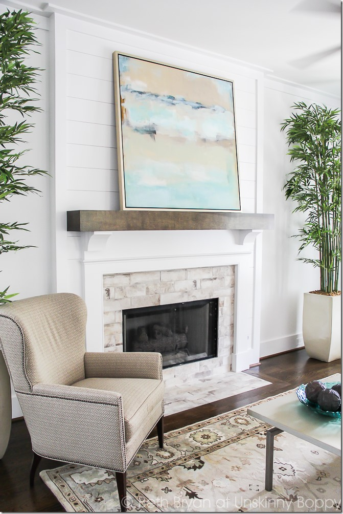 8 Ways to Style a Mantel with Art | Centsational Style