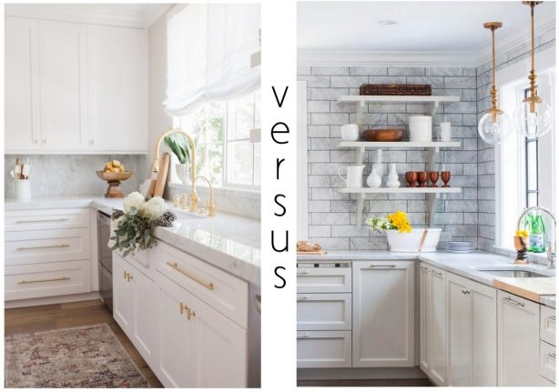 Closed Cabinets v. Open Shelving, Revisited
