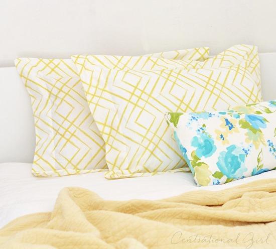 diy flanged pillow shams centsational