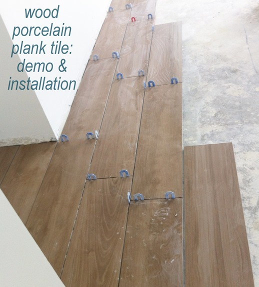 tile flooring demo installation
