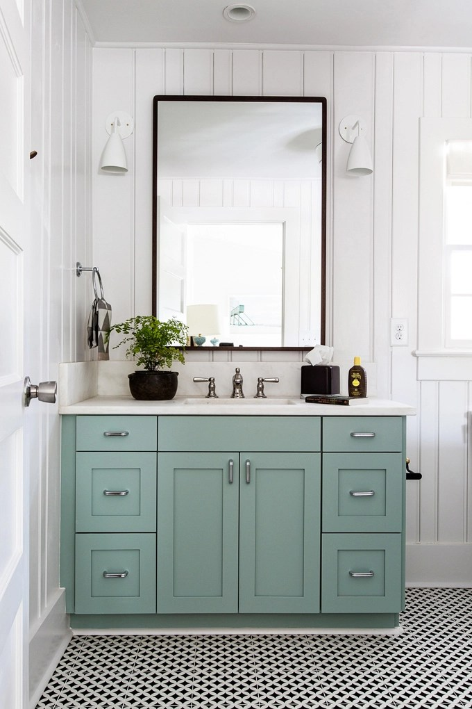 Lovely Blue Painted Bath Vanities