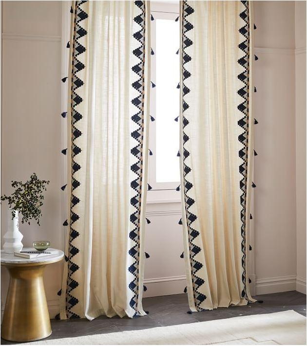 trimming plain curtains centsational