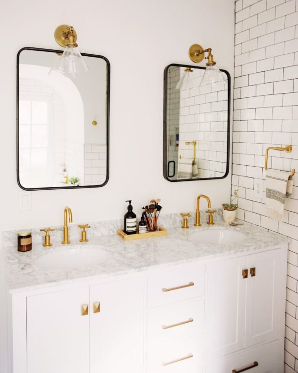Mixing Metal Finishes In The Bathroom Centsational Style