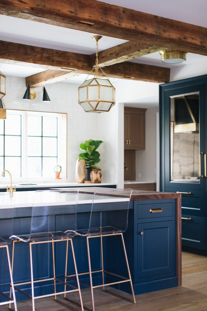 Forever Classic: Blue Kitchen Cabinets   Centsational Style