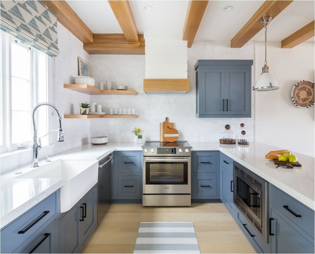 Etonnant This Is A Beautiful Mid Tone Slate Blue In A Kitchen Designed By Brooke  Wagner, The Natural Wood Tones Look Especially Good With This Blue Hue, ...