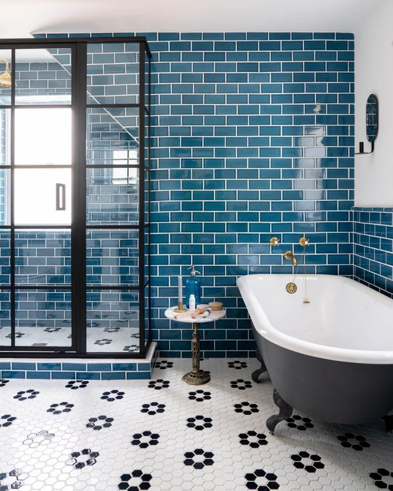 Incredible Bold Colorful Bathroom Tile Centsational Style Home Interior And Landscaping Eliaenasavecom