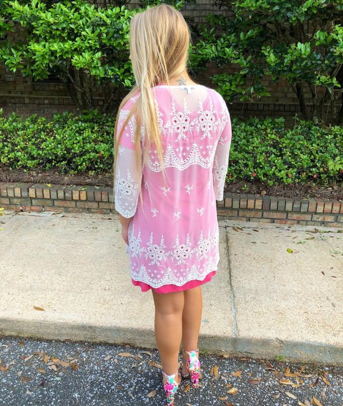 Creme Lace Kimono