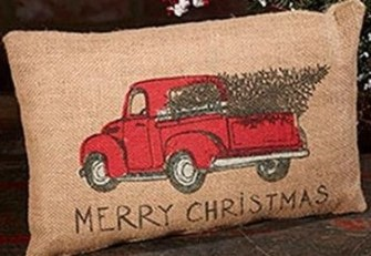 red christmas truck pillow centsiblechateau.com