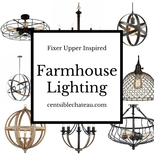 Fixer Upper Inspired Farmhouse Lighting Centsiblechateau