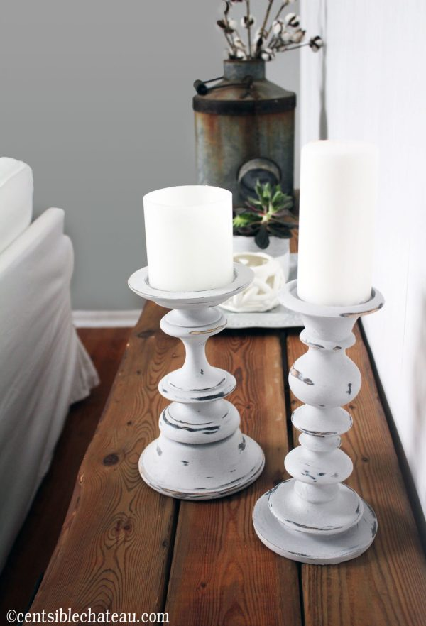Candlesticks Fixer Upper Style, One Room Challenge | Centsible Chateau