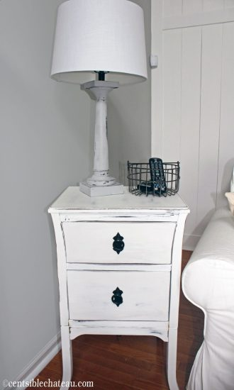 After: End table farmhouse style DIY | Centsible Chateau