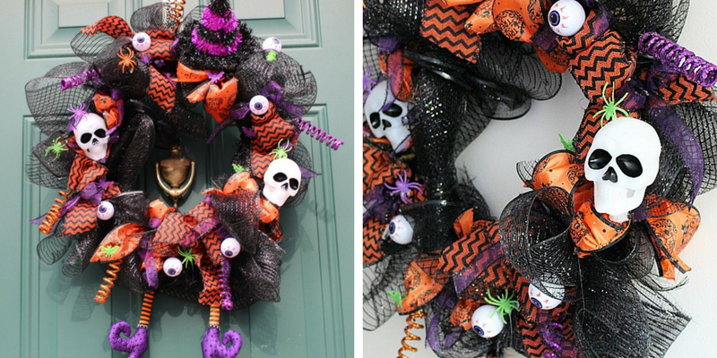 DIY Halloween Witch Wreath