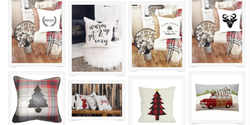 Farmhouse Style Christmas Pillows