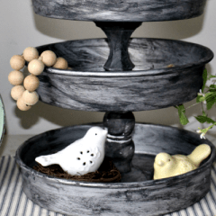 Make Your Own Farmhouse Style Tiered Tray for Under $25