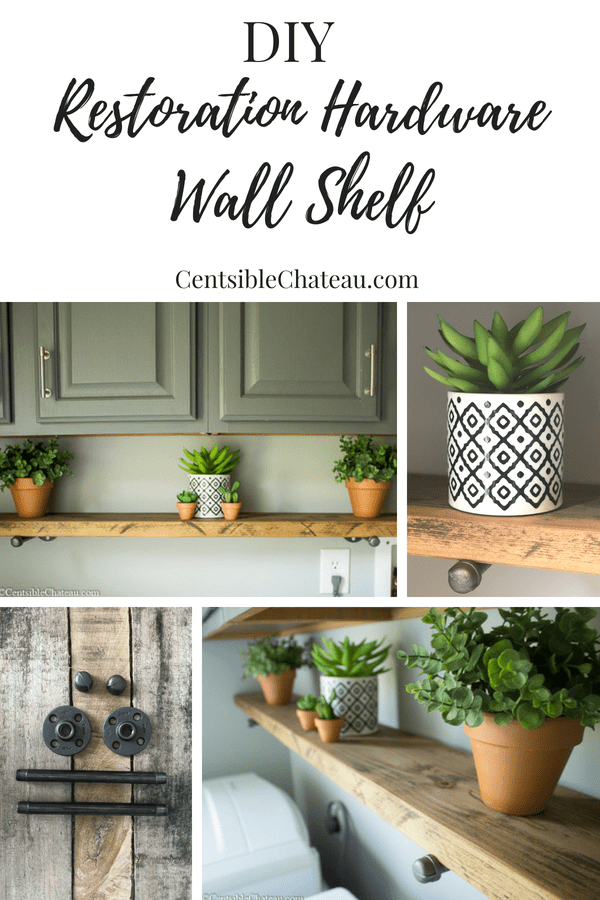 DIY Restoration Hardware Wall Shelf for Under