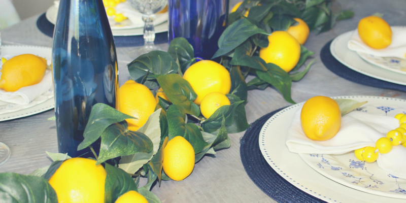 DIY Lemon Garland for Under