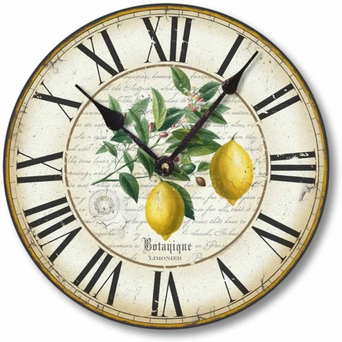 farmhouse lemon decor botanical clock