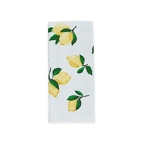 farmhouse lemon decor lemon tea towel kate spade