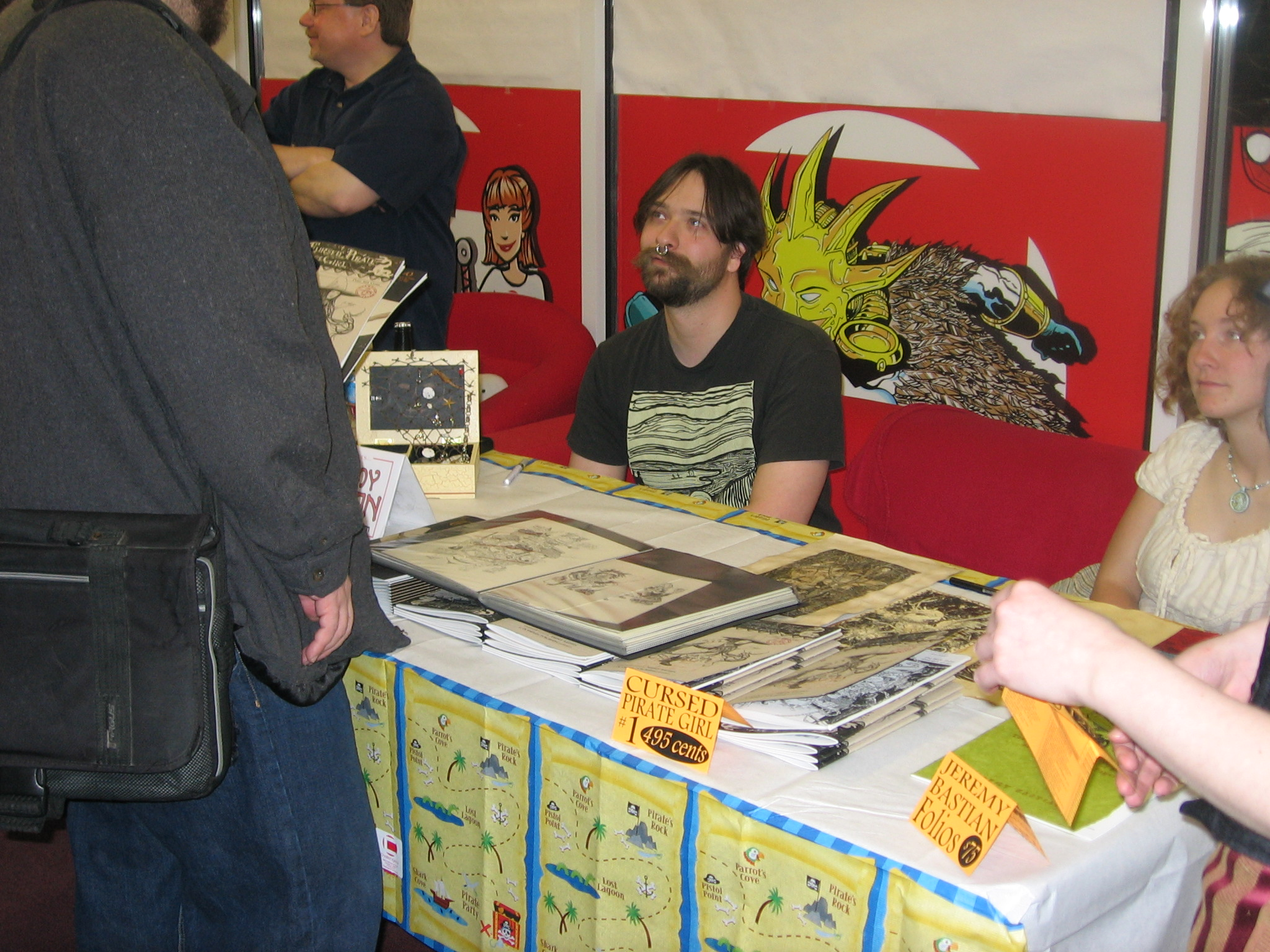 Jeremy Bastian at the signing table