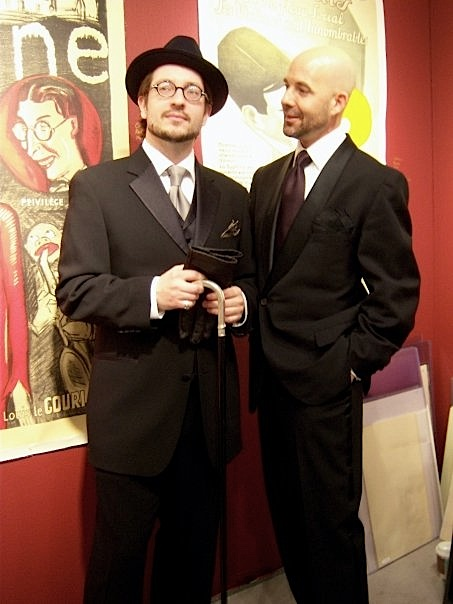 Thomas Negovan and Stuart Tomc, Artropolis 2009.  We survived, preserving dandyism for another day.