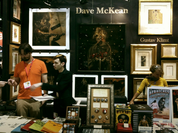 Dave McKean's 'Destiny' painting (plus that guy Klimt)