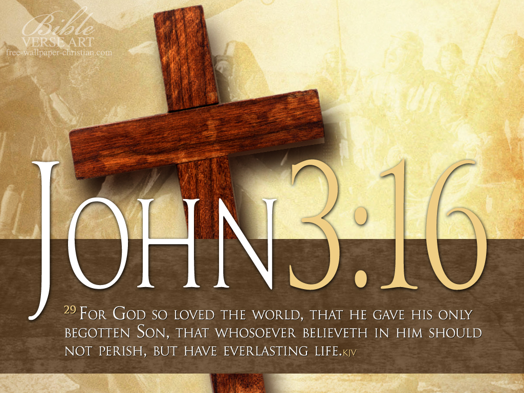 John 3 16 Bible Verse Hd Wallpaper