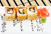 Sushi (rolls) on a plate