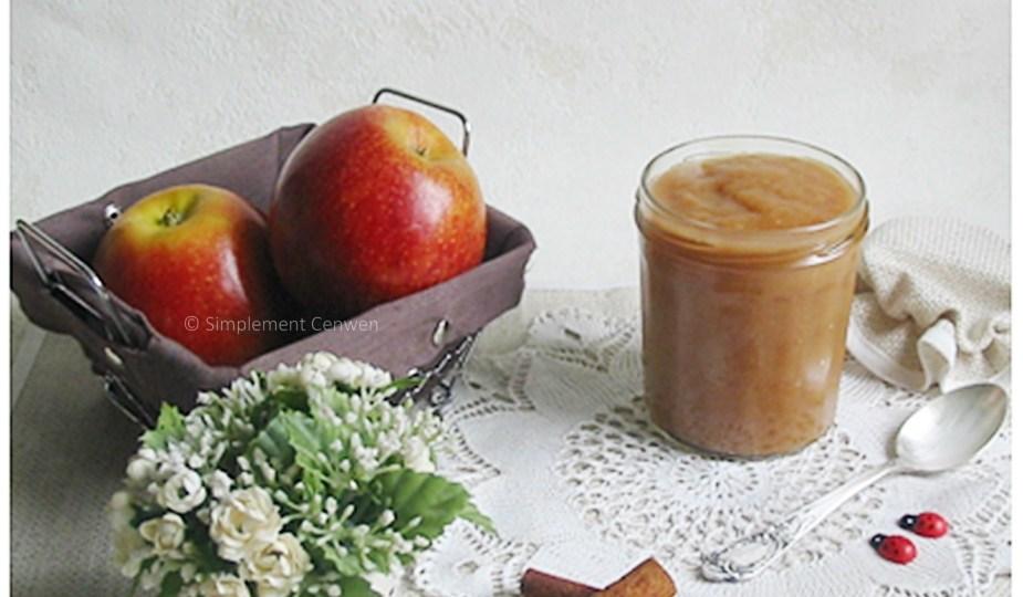 Compote de pommes aux épices, cannelle, badiane et clous de girofle, cuite en mijoteuse électrique