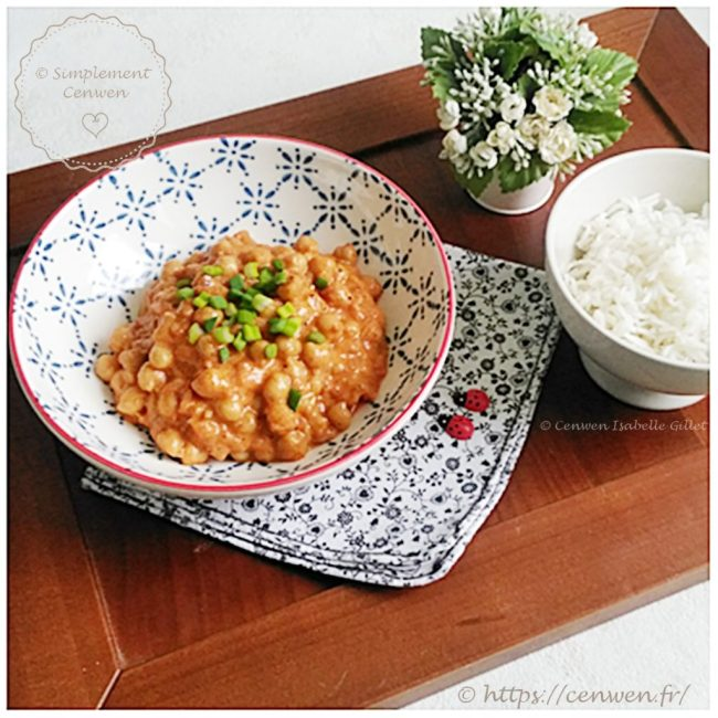 Pois chiches au curry rouge