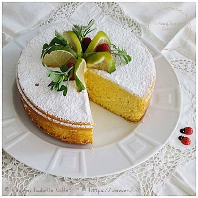 Gâteau moelleux au citron vert